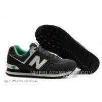 For Sale New Balance Casual Shoes Men 574 Deep Grey White Green