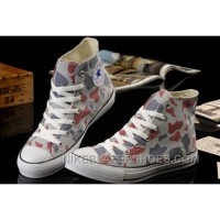 Summer CONVERSE Camouflage High Tops Nicolas Cage Soul Grey Red All Star Chucks Canvas Sneakers Online KAdC8