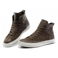 CONVERSE Chuck Taylor All Star City Lights Brown High Tops Leather Canvas Sneakers For Sale 8cRjR