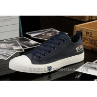 Blue CONVERSE All Star Light Comme Des Garcons Play Canvas Tops Shoes Hot Now AYJQ5