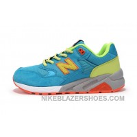 Online New Balance 580 Men Blue Green