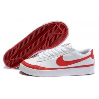 Nike Blazer Low Basic Leather White Red