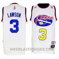 Ty Lawson Denver Nuggets #3 ABA Hardwood Classics Throwback White Jersey Online GWfst