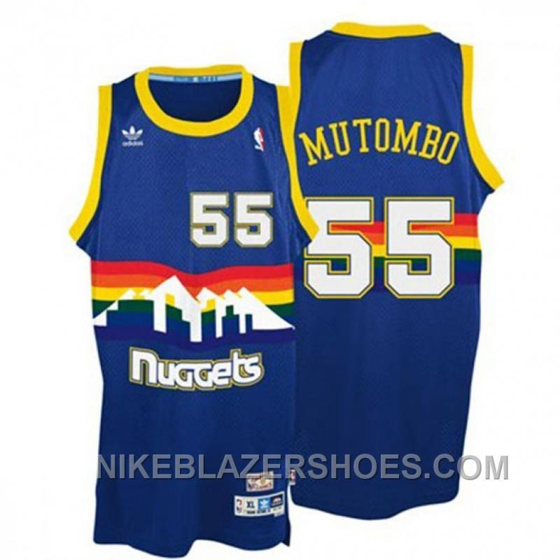 Denver Nuggets White Jersey: Dikembe Mutombo Denver Nuggets Throwback Swingman Jersey