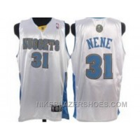 Denver Nuggets #31 Nene White Discount 7KJFt