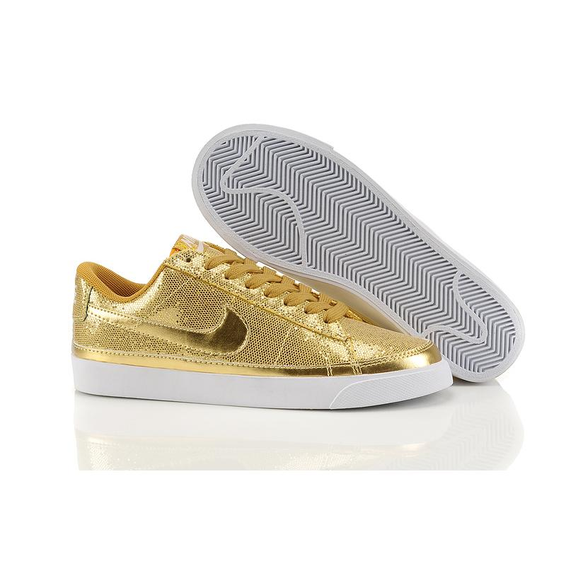 Women Nike Blazer Low Bling gold black swoosh , Price: $74 ...