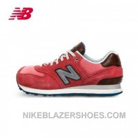 2016 New Balance 574 Women Red Discount