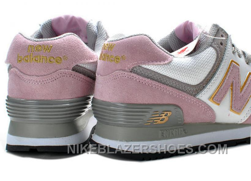 discount womens new balance w574ewp grey pink shoes price. Black Bedroom Furniture Sets. Home Design Ideas